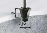 Fasefräser HW Schaft 12 mm mit Anlaufkugellager Art. 492665