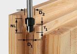 Stufenfräser HW Schaft 12 mm Festool
