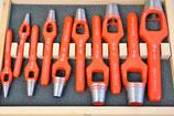 Locheisen / Lochstanzer aus Stahl im Set 10-tlg.