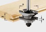Profil-Nutfräser HW Schaft 8 mm Art. 490645