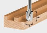 Spiralnutfräser HW  Voll-Hartmetall mit Grundschneide, Schaft 8 mm