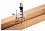 Wedneplatten-Nutfräser HW einschneidig mit Grundschneide, Schaft 12mm Art. 497454 Festool