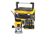 Elektronik-Oberfräse DW 615 KXT 900 Watt plus 12-tlg. Fräser-Set in TSTAK Box Dewalt