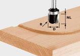 Wasserrinnenfräser HW mit Anlaufkugellager, Schaft 8 mm Art. 490982 Festool