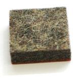 Filzgleiter selbstklebend eckig grau meliert