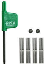 Wendeplatten-Set für Wendeplatten-Nutfräser HW einschneidig mit Grundschneide, Schaft 8mm Festool