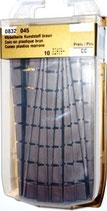 Möbelkeile Kunststoff braun 100mm / 1-7mm
