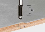 Bündigfräser HW mit Anlaufkugellager, Schaft 8 mm Art. 491027