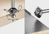 Wendeplatten Fase-/ Kantenfräser HW mit Anlaufkugellager, Schaft 8mm Art. 499807