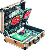 Werkzeugkoffer Alu  technocraft PRO WOOD 4 mit 126-teiligem Werkzeugsatz