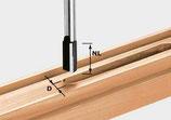 Nutfräser HW mit bestückter Grundschneide, Schaft 8 mm Festool