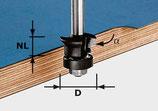 Fase-Bündigfräser mit Anlaufkugellager, Schaft 8 mm Art. 491026 Festool