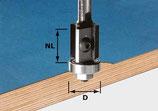 Wendeplatten-Bündigfräser HW mit Anlaufkugellager, Schaft 8 mm