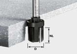 Bündigfräser HW Schaft 12 mm mit Kugellager oben Art. 492705