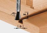 Grat-/Zinkenfräser HW Schaft 8 mm mit Vorschneider Art. 490990 Festool