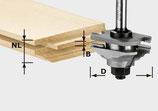 Profil-Federfräser HW Schaft 8 mm Art. 490643