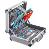 Werkzeugkoffer Alu technocraft PRO COMPACT 106 mit 106-teiligem Werkzeugsatz