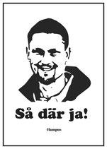 Poster Hampus - Så där ja!