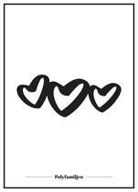 Poster - Tre hjärtan