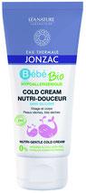 Cold cream nutri-douceur Bébé Bio, visage et corps, peaux sèches et très sèches EAU THERMALE JONZAC - 100ml