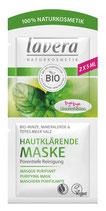 Masque de soin Purifiant, Menthe bio et Sel de la mer morte, peaux à tendance grasse et à imperfections LAVERA - 10ml
