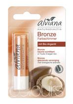 Baume à lèvres Scintillant Bronze à l'huile d'argan bio ALVIANA - 4,5g