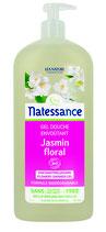 Gel douche Envoûtant, jasmin floral, sans sulfates NATESSANCE - 1L