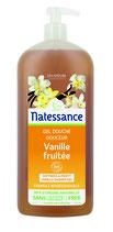 Gel douche Douceur, vanille fruitée, sans sulfates NATESSANCE - 1L