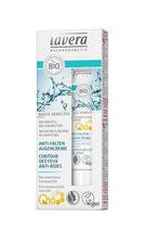Crème contour des yeux anti-rides à la Coenzyme naturelle Q10 Basis Sensitiv, LAVERA - 15ml