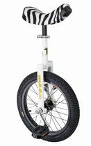 Einrad QU-AX Luxus 305 mm (16″) weiss, zebra