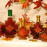 Ahornsirup 50 ml - Glasflasche in Ahornblattform