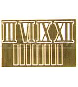 Chiffres Laiton Massif x4 et ses bâtons