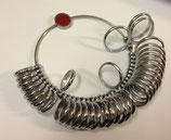 Baguier métallique, anneaux bombés
