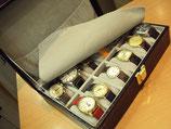 Boite en pour rangement de 12 montres
