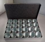 Boite alu 24 calottes pour mouvements / pièces