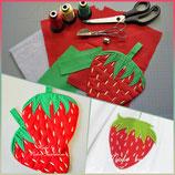 Topflappen Erdbeere
