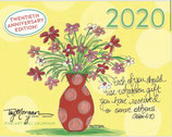 2020 Hanging WALL CALENDAR (Inspirational Art)
