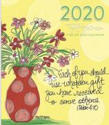 2020 DESK CALENDAR (Inspirational & Scripture Art)