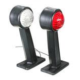 """LED Positionslampen """"SET"""" 20° Winkel, lang"""