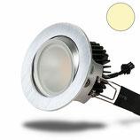 LED Deckeneinbauleuchte, alu gebürstet, warmweiss