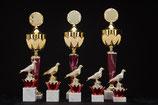 # 31 Pokale und Taube mit Kranz ROT
