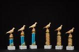 # 13 Pokal Ständer mit Taube blau oder gold