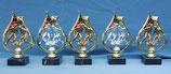 #66074 Fußball Figur auf Ständer, Gold oder in Gold-Silber