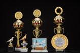 # 33 Pokale, Taubenpokale, Ständerbild und Teller