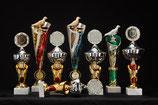 # 36 5er Satz Pokale in rot oder 3 stehende Pokale mit Taube (andere Tops möglich)
