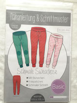 Schmale Sweat Hose woman