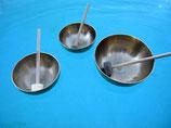 Klangschalen Set 40 und 3 hochwertige Filzschlegel