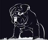 Bulldogge Aufkleber