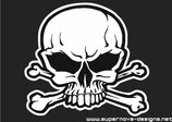 Totenkopf mit Knochen