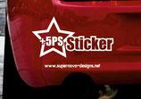 +5 PS Sticker
